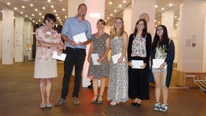 Nicole Bauer and the Poster Prize Winners 2016; Diederik Esser, Lena Leder, Charlotte Michielsen, Marie-Pier Scott-Boyer and Qian Gao